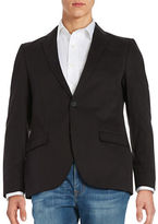 Black Brown 1826 Cotton Two-Button Jacket