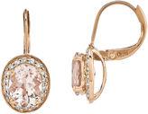 FINE JEWELRY 1/5 CT. T.W. Diamond and Genuine Morganite 14K Rose Gold Drop Earrings