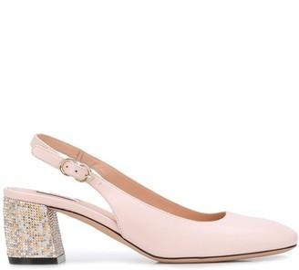 Bally Celie studded heel pumps