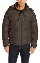 U.S. Polo Assn. Men's Classic Bubble Jacket with Polar Fleece Lining and Mini Logo