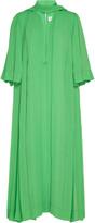 Victoria Beckham Plisse-Chiffon Midi Dress