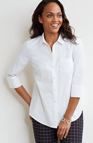 J. Jill Cotton-Stretch 3/4-Sleeve Shirt