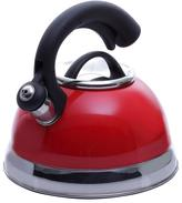 Creative Home Symphony 10-Cup Tea Kettle with Stainless Steel in Pomegranate Red