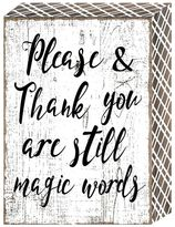 "Belle Maison ""Please & Thank You"" Box Wall Art"