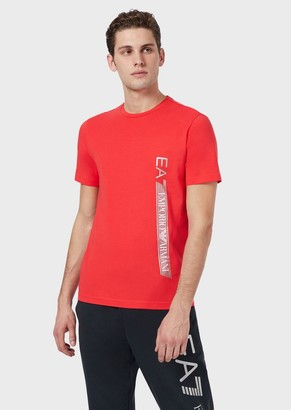 Ea7 Jersey T-Shirt With Side Logo