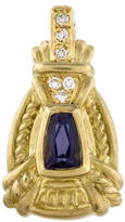 Judith Ripka Tanzanite & Diamond Pendant