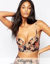 Wolfwhistle Wolf & Whistle Lace Up Plunge Bikini Top B-G