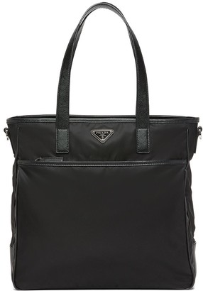 Prada Saffiano leather and Nylon tote