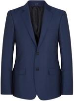 Alexander Mcqueen Blue Wool Blend Jacket