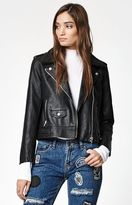 Obey Billie Faux Leather Moto Jacket