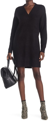 Cloth By Design Mossy V-Neck Tunic Sweater Dress
