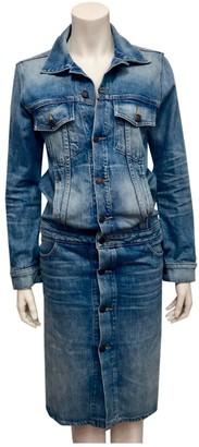 6397 Blue Cotton Dress for Women