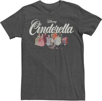 Licensed Character Men's Disney Cinderella Group Shot Title Logo Tee