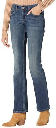 Wrangler Retro Mae Mid-Rise Bootcut Jeans (Dark Blue) Women's Jeans