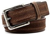 Johnston & Murphy Distressed Overlay Belt