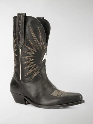 Golden Goose Wish Star cowboy boots