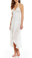 In Bloom by Jonquil Opal Leaf Sheer Chiffon Halter Chemise