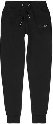 True Religion Black cotton jogging trousers