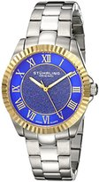 Stuhrling Original Women's Quartz Watch with Blue Dial Analogue Display and Silver Stainless Steel Bracelet 743.03
