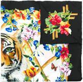 Dolce & Gabbana Tiger floral print scarf