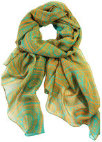 Happy Scarf Spiral Glyph Teal