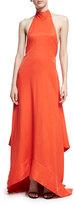 SOLACE London Esme Halter Sleeveless Linen Gown