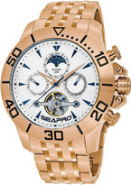Seapro Sea-Pro Montecillo Mens Rose Goldtone Bracelet Watch-Sp5135