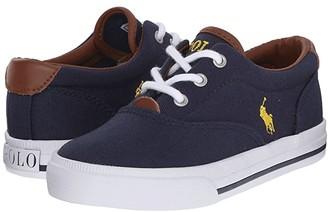 Polo Ralph Lauren Vaughn II (Toddler) (Navy Canvas/Yellow) Boy's Shoes