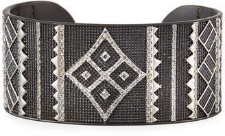 Freida Rothman Contemporary Deco Cuff Bangle, Black