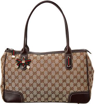 Gucci Brown Gg Canvas Medium Princy Boston Bag