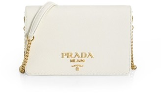 Prada Small Monochrome Leather Crossbody Bag