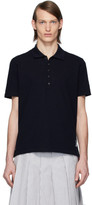 Thom Browne Navy Center-Back Stripe Polo