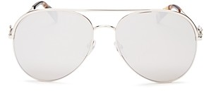 Marc Jacobs Women's Marc Daisy Brow Bar Aviator Sunglasses, 58mm