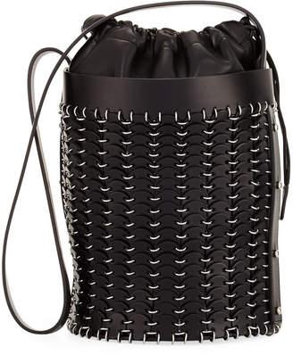 Paco Rabanne 1401 Drawstring Chain-Link Bucket Bag