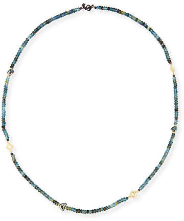 Armenta Old World Beaded Aquamarine & Keshi Pearl Necklace, 34""