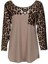 LUNIWEI Women Leopard Printed Long Sleeve T-Shirt Tops Casual Blouse Shirt