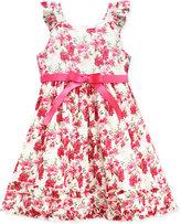 Jayne Copeland Floral Swiss Dot Dress, Toddler & Little Girls (2T-6X)