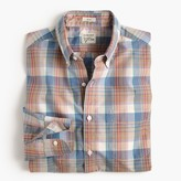 J.Crew Slim Secret Wash shirt in red and blue plaid