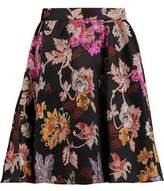 Alice + Olivia Earla Pleated Jacquard Mini Skirt