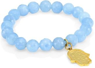 Nest Aquamarine & Hamsa Charm Bracelet