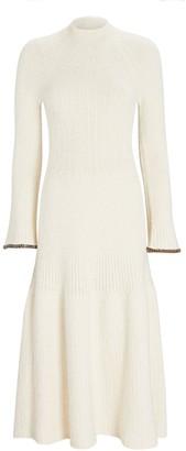 Proenza Schouler Bell Sleeve Rib Knit Midi Dress