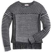Design History Girls' Vertical & Horizontal Stripe Sweater - Big Kid