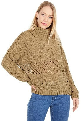 Chunky Olive Sweater ShopStyle