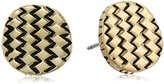 The Sak Basket Weave Gold Stud Earrings