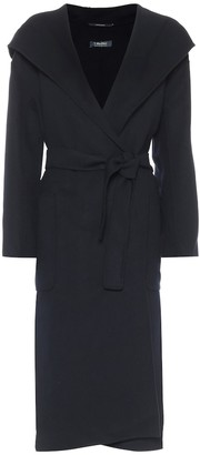S Max Mara Nicolo hooded virgin wool coat