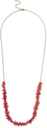 Iris & Ink Dame Gold-plated Acrylic Necklace