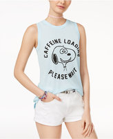 Mighty Fine DOE Juniors' Peanuts Snoopy Caffeine Graphic Tank Top