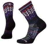 Smartwool Women's PhD Outdoor Light Pattern Mid Crew Socks (Charcoal)