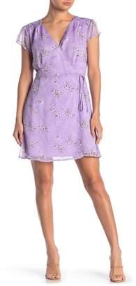 Sugar Lips Sugarlips Aliyah Floral Chiffon Wrap Dress