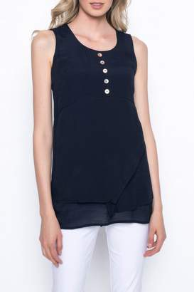 Picadilly Button Detail Tank